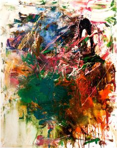 Joan Mitchell. L'école Buissonnière, ca. 1959. Oil on canvas. 68.6 x 66cm.    Hammer Museum, Los Angeles.    Promised gift of Susan and Larry Marx.