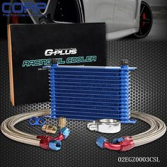 69.60$  Watch now - http://alifui.shopchina.info/go.php?t=675601031 - 15 Row An-10an Universal Engine Oil Cooler Kit + Aluminum Hose End Kit 69.60$ #buyonlinewebsite
