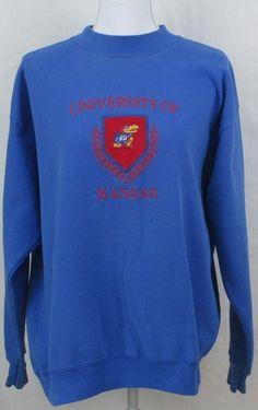 Kansas Jayhawks Sweatshirt 1X Plus XL Vintage NCAA KU University  #Signet #SweatshirtCrew