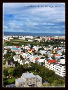 """The Reykjavik harbor from above, taken from Hallgrimskirkja Church. Visit Iceland! Find out more at """"Down the Wrabbit Hole - The Travel Bucket List"""". Click the image for the blog post."""
