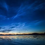 Noctilucent CloudsSky watchers in Europe are reporting an outburst of bright noctilucent clouds (NLCs). The display began at sunset on July 3rd, filling northern horizons with electric-blue ripples, swirls, and tendrils of light.