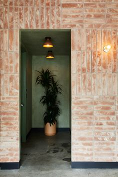 Terracotta brick and stucco give Mexican restaurant Loqui a rustic look Mexican restaurant Loqui in Los Angeles. Concrete Building, Building Facade, Concrete Floors, Mexican Restaurant Design, Restaurant Interior Design, Restaurant Restaurant, Architecture Restaurant, Architecture Details, Terracotta