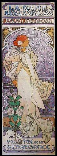 Mucha La Dame aux Camelias 1896 by mpt.1607, via Flickr