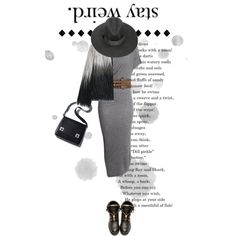 Stay Weird by shica-du on Polyvore featuring Balmain, Belstaff, women's clothing, women's fashion, women, female, woman, misses, juniors and beautifulhalo