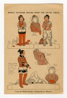 78.2999: World Traveler Dollies from the Arctic Circle | paper doll | Paper Dolls | Dolls | Online Collections | The Strong