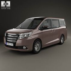 Toyota Noah G 2014 3d model from humster3d.com. Price: $75