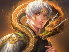 Dragon boy by *sakimichan on deviantART. The dragon boy is a distant cousin of the elf child.