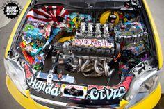 sexy honda V-tech Honda Civic Engine, Honda Civic Dx, Civic Eg, Honda Civic Hatchback, Honda Cars, Audi Cars, Corsa Wind, Slammed Cars, Sticker Bomb