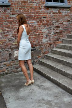 natalie's style: LOOK OF THE DAY: White dress
