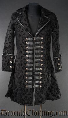 NPRADLA 2020 Jacke Herren Slim Fit Mantel Gothic Sticken Knopf Mantel Uniform Kostüm Party Oberbekleidung