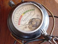 Antique Voltmeter Steampunk Gauge Meter Dial by MaryPoppinsVintage, $55.00