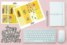 Our Weekend + Free Yellow Planner Stickers - Felly Bee Student Planner Printable, School Planner, Printable Planner Stickers, Free Printables, Free Planner, Planner Ideas, Birthday Tracker, House Planner, Printable Recipe Cards