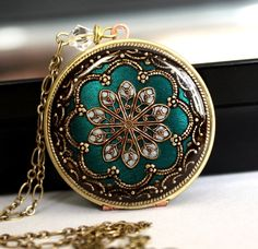 Aqua/ Locket/ Gift/ For/ Her/ Valentines Day Gift/ Women's/ Locket Necklace/ Gift/ For/ Girlfriend/ V-Day Gift/ Romantic/ Gift/ Wedding/ Gif
