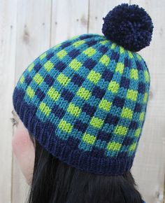 Free Knitting Pattern for Cozy Plaid Hat - This pattern uses stranded colorwork to produce a plaid design over the entire hat. Designed by Amber Armstrong