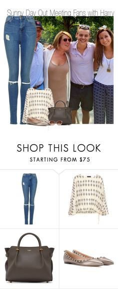 """""""Sunny Day Out Meeting Fans with Harry"""" by elise-22 ❤ liked on Polyvore featuring Topshop, Lanvin, Nina Ricci, Valentino and Oliver Peoples"""