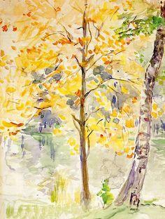 Berthe Morisot (1841-1895). 1888, Couleurs d'automne dans le Bois de Boulogne