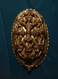 Viking age brooch in the Historisk museum, Oslo, Norway.