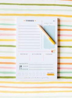 "Best ""Task"" Notepad Ever by Gina Peterson from Ginger P. Designs"