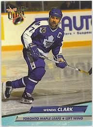 Wendel Clark - Playing with the Toronto Maple Leafs --- the good ole hockey days! Hockey Baby, Ice Hockey, Maple Leafs Hockey, Hockey World, Wayne Gretzky, Good Old Times, Sport Icon, Nfl Fans, Hockey Cards