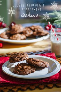 Grain-Free Double Chocolate & Peppermint Cookies// Soletshangout.com