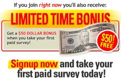 Knowledge Items10: Get Cash For Surveys - $50 Bonus To New Affiliates...