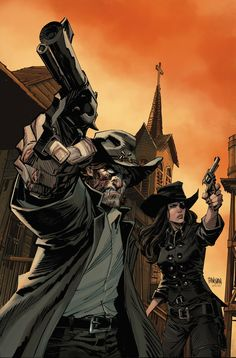 ALL-STAR WESTERN #30 Written by JUSTIN GRAY and JIMMY PALMIOTTI Art by STAZ JOHNSON Backup art by JOSE LUIS GARCIA-LOPEZ Cover by DAN PANOSI...