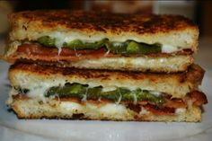 Bacon and jalepeno grilled cheese sandwiches....No, YOU shut up!