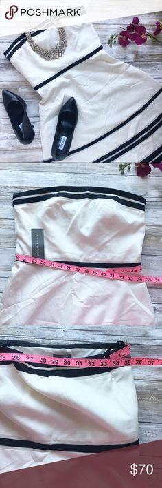Ann Taylor strapped dress NEW 👌🏻 Super elegant ❤️ Bundle for discount 💡     Follow my Instagram : @vintage.paris Ann Taylor Dresses Strapless