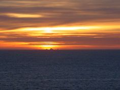 Sunset over the Farallone Islands