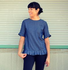 FREE PATTERN ALERT: The Carrera Top: Learn how to make the top with pleated cuffs and hemline with a beautiful touch for this summer and fall.