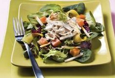 West Indies Salad  with tropical fruits and fresh lump Louisiana crabmeat.