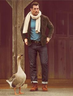 Fall/Winter 2012 Lucky Brand catalog  Model: David Gandy