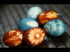 ▶ Dye Easter Eggs With Natural Ingredients Recipe - YouTube