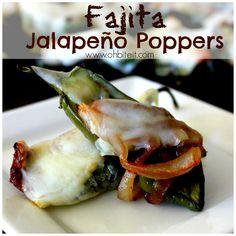 ~Fajita Jalapeño Poppers!