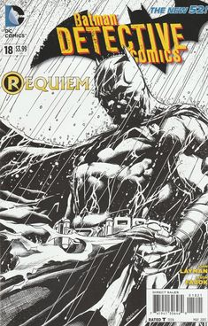 Detective Comics # 18 DC Comics The New 52! Vol 2Variant Black And White Cover