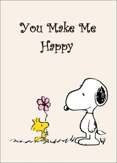"Snoopy And Woodstock Collectible Peanuts ""You Make Me Happy"" Stand-Up Display - Other"