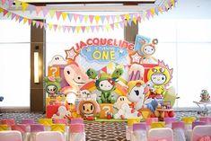 Detailed partyscape from Hello Kitty Tokidoki Themed Birthday Party at Kara's Party Ideas. #tokidoki #hellokitty #tokidokiparty