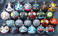 Any Character Nightmare Before Christmas Ornaments! Pick Your Favorite! Hand-Painted, Highly Detailed, Shatterproof, Made Just for You! by AndreaHathcockArt on Etsy https://www.etsy.com/listing/464916608/any-character-nightmare-before-christmas