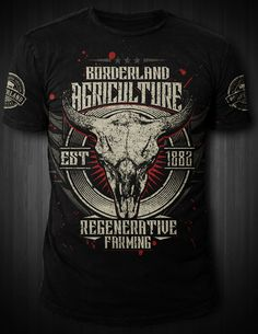 Design #66 by Johnya-D   Create a vintage Affliction style tshirt for Borderland Agriculture bison farm and ranch!