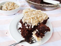Luscious German Chocolate Oat Cake