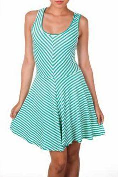 Striped Skater Dress Spring 2014, Skater Dress, March, Summer Dresses, Casual, Fashion, Moda, Summer Sundresses, Fashion Styles