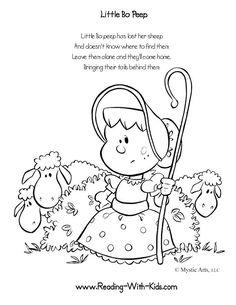 Nursery Rhyme Coloring Pages