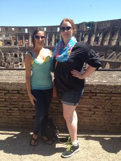 Students for the PASSHE Summer Honors Program stand in front of the Colosseum in Rome.