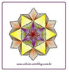 Blog de celeste :Minhas  Artes  Diversas, MANDALA (para bordar em papel)