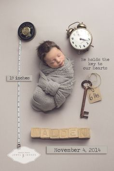 """Sneak Peek of the inspiration for our new line of birth announcements, """"Memento"""" ! More info on pricing and templates coming very soon -- stay tuned!! Jewel Images Bend, Oregon Newborn Photographer www.jewel-images.com #Announcement"""