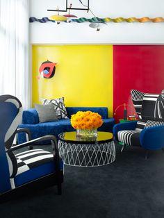 Цветная квартира-дуплекс в Нью-Йорке