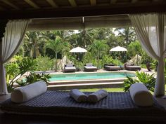 The best view from living area Luxury Lumbung / Glamour-Camp in Ubud BALI
