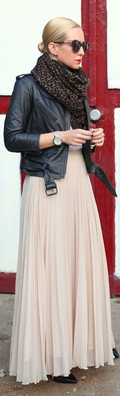 Chic In The City - {transitional Weather Favorites} by Brooklyn Blonde Maxi Skirt | ~LadyLuxury~