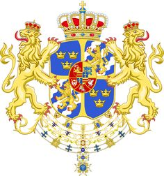 Armoiries des rois Adolphe Frédéric, Gustave III et Charles XIII de Suède
