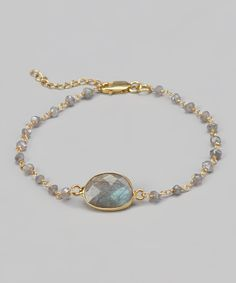 Gold & Labradorite Stone Bracelet | Daily deals for moms, babies and kids